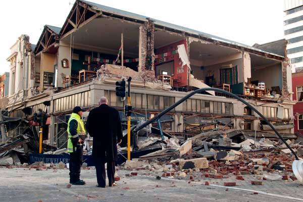 Damage from magnitude 7.1 earthquake in Christchurch NZ. Click here for more pictures