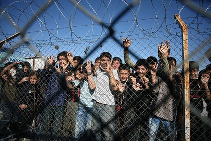 immigrants in detention center