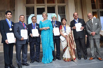 Sari sight ... Kristina Keneally presents the Indian Subcontinent Community awards on February 18 at Government House. She says the new awards were set up in response to community demand.