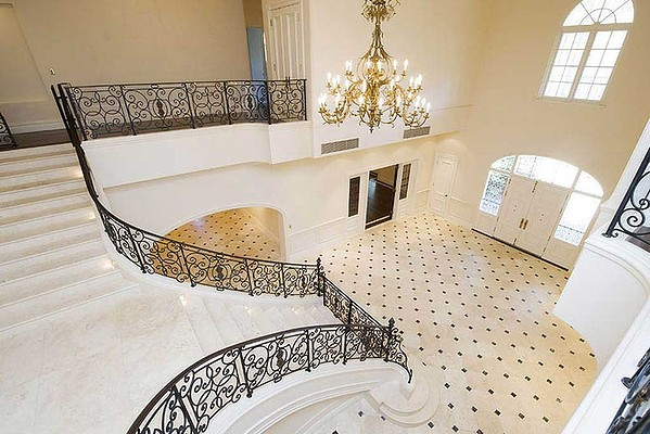 Elegant tiling and staircase