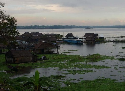 Iquitos, above, is the largest city in the Peruvian rainforest. The Matses live in the roadless jungle a six-day ride upriver from the city.