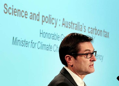 Misleading ... Minister for climate change Greg Combet says Tony Abbott is propagating fear and myths.