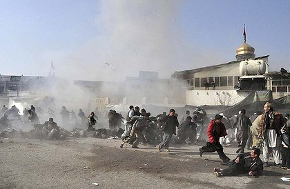 Devastation ... this picture was taken seconds after the suicide blast in Kabul.
