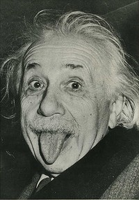 Albert Einstein ... so much for those who thought his theory was wrong.