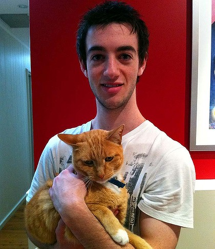 """""""Over 250,000 pets get killed each year simply because they don't have homes"""" ... Brandon Cowan."""