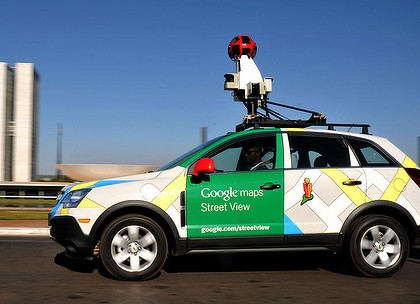 A Google 'Street View' mapping and camera vehicle.
