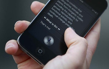 Apple's Siri ... unrivalled by the Galaxy's voice assistant.