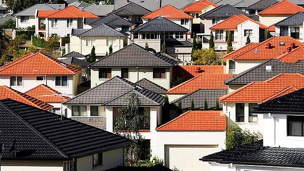***AFR FIRST USE ONLY*** Generic housing at Bella Vista housing development, homes, mortgage, house, for sale, roof tops. Wednesday 24 May 2006 AFR  Photo Louie Douvis