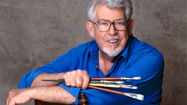 Exposure .. Rolf Harris' art is now the target of vandals after being named in the Jimmy Savile investigation.