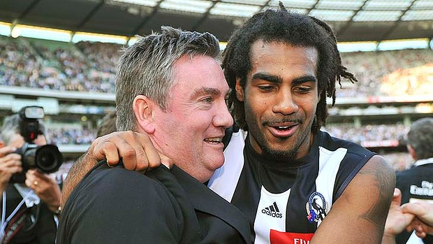 Comments by Collingwood president Eddie McGuire (left) about Adam Goodes prompted Harry O'Brien (right) to question Australia's tendency for casual racism.