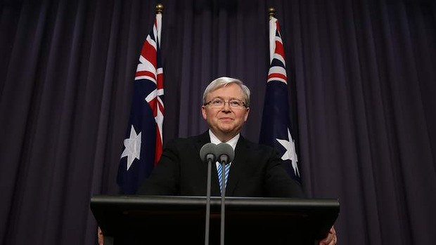 Prime Minister Kevin Rudd at his first press conference since resuming the prime ministership. He has announced an extension to the sign-up date for the school funding reforms.