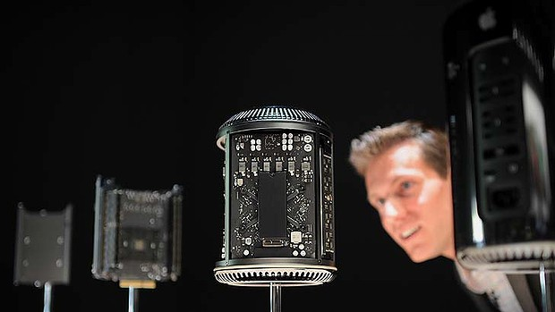 Apple's Mac Pro, which can be configured to house up to a 12-core processor.
