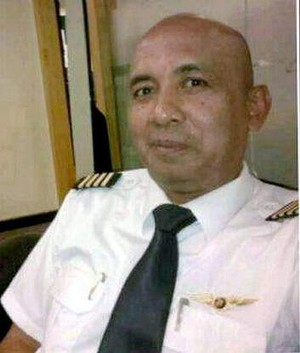 Dealing with a catastrophe? Zaharie Ahmad Shah, pilot of Malaysia Airlines flight MH370, seen in a photo posted to his community Facebook pages.