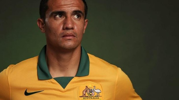 Honoured: Tim Cahill will skipper the Socceroos for the first time.