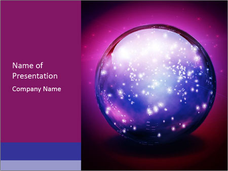 Crystal Ball Powerpoint Template Infographics Slides