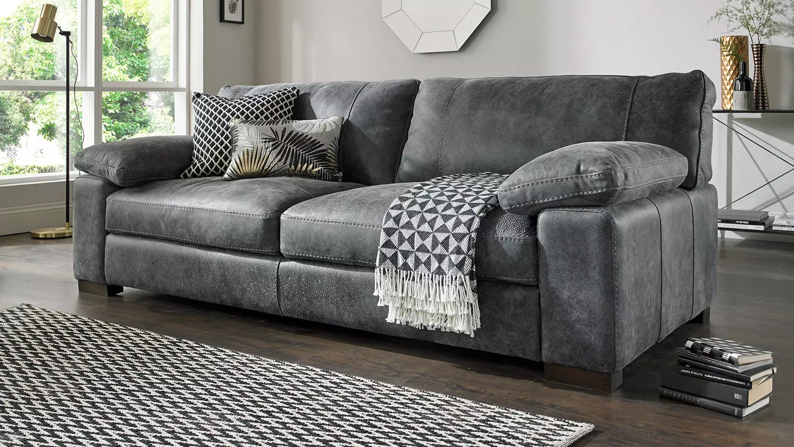 linara leather sofa
