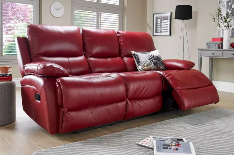 Red Leather Recliner Sofa Uk Www Energywarden Net