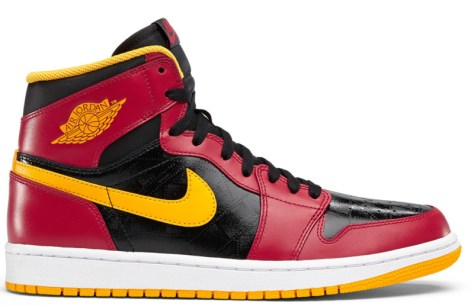 Air Jordan 1 Retro High OG Black Gym Red University Gold