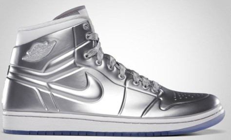 Air Jordan 1 High Retro Anodized Metallic Silver White