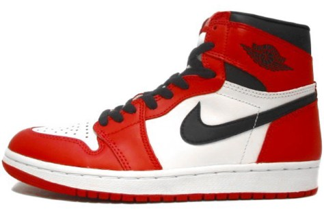 Air Jordan 1 High Retro White Black Red 1994