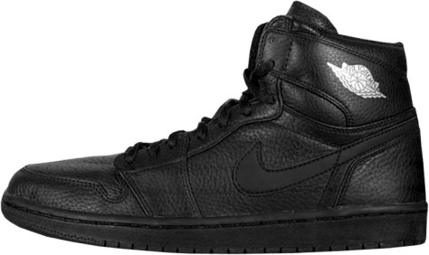 Air Jordan 1 High Retro Black Black Metallic Silver