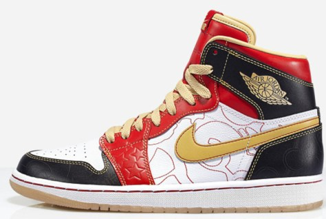 Air Jordan 1 Retro High OG XQ White Gold Dust Sport Red Black