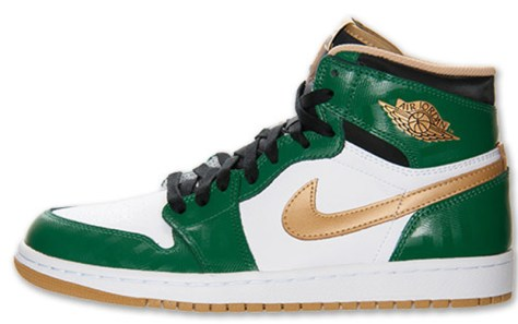Air Jordan 1 Retro High OG Clover Metallic Gold White Black