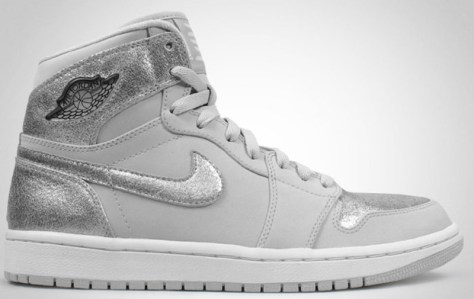 Air Jordan 1 High Retro Neutral Grey Metallic Silver White