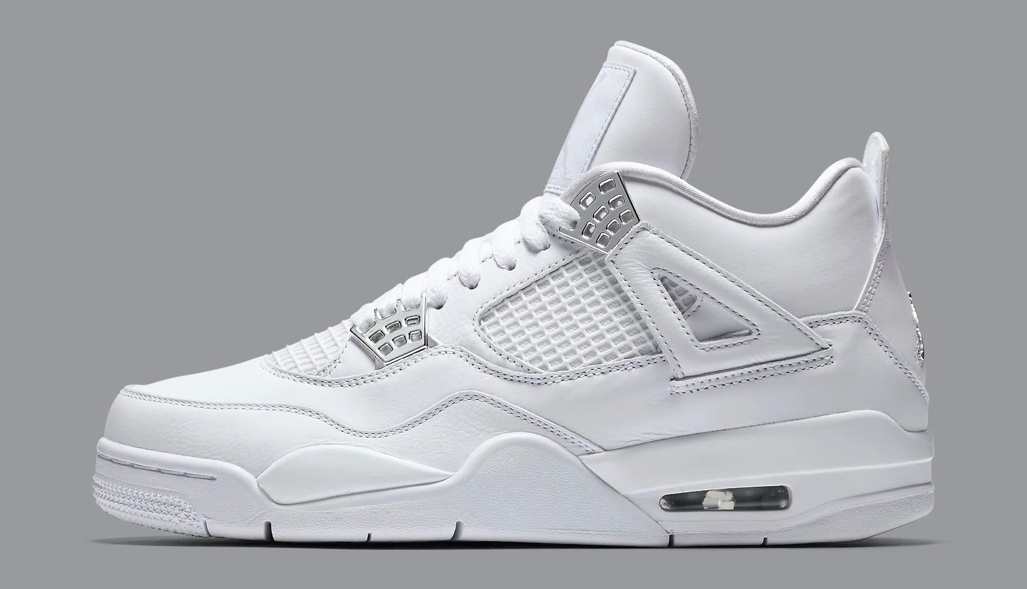 Puro dinero Air Jordan 4 308497-100 Perfil