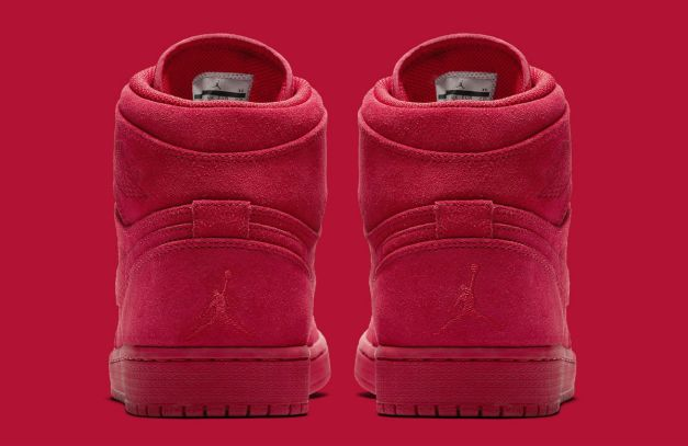 Air Jordan 1 High Red Suede Release Date Heel 332550-603