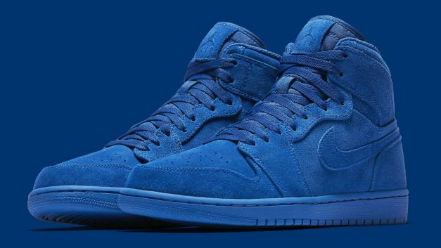 Air Jordan 1 High Blue Suede Release Date Main 332550-404
