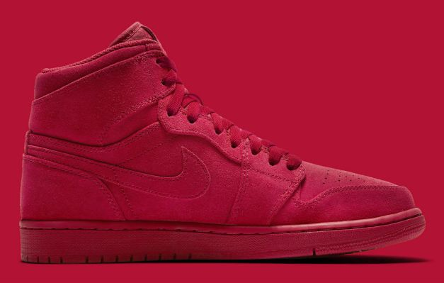 Air Jordan 1 High Red Suede Release Date Medial 332550-603