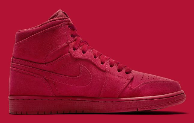 Air Jordan 1 High Red Suede Release Date Medial 332550-603