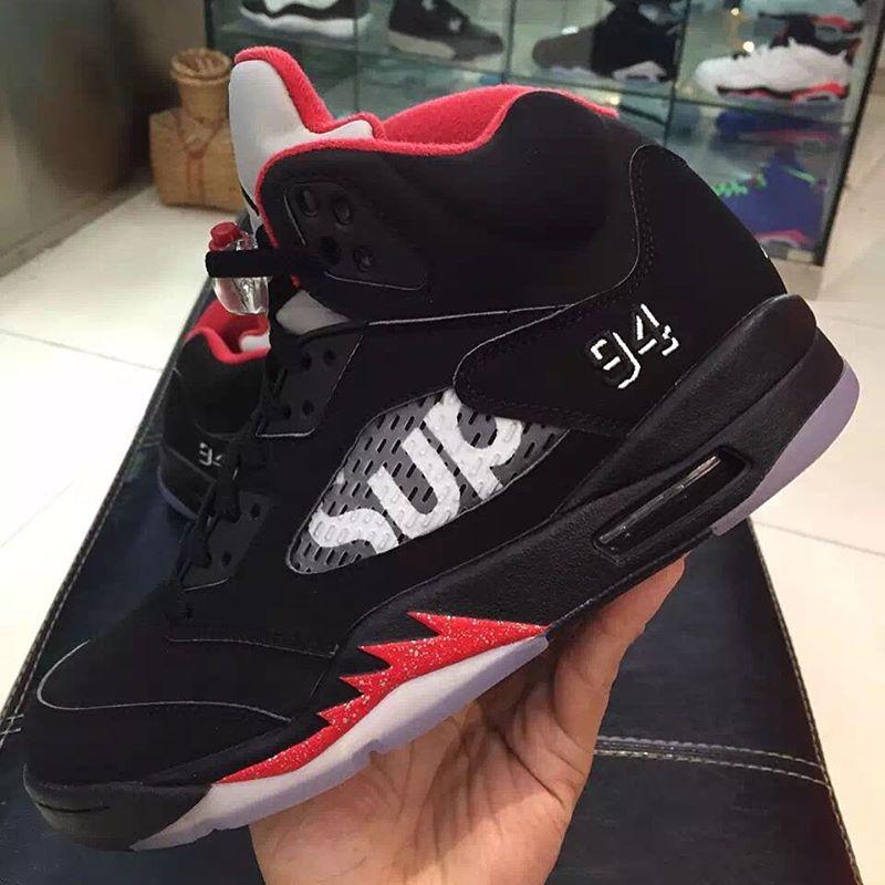 Fresh Shots Of The Upcoming Black Supreme X Air Jordan 5