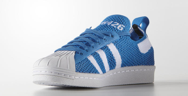 Adidas Superstar Primeknit Black Blue White Sole Collector