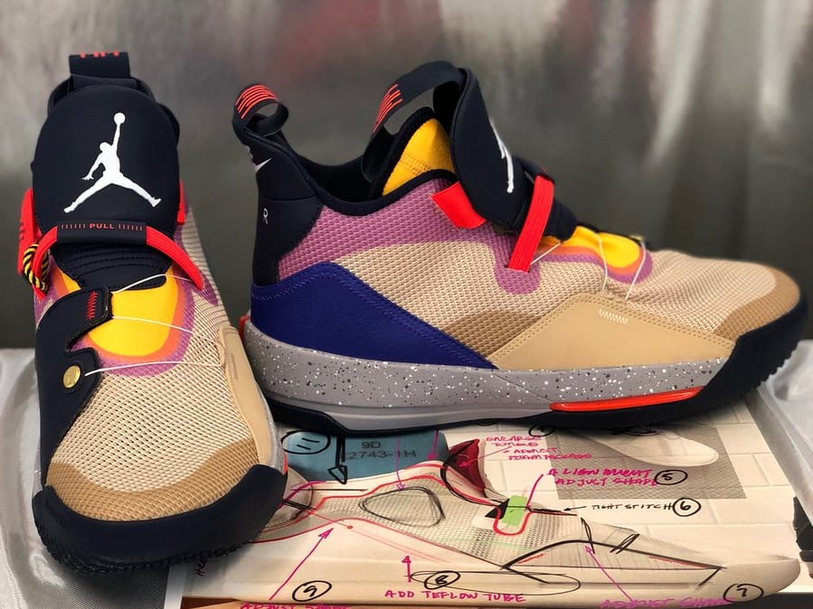 Air Jordan 33 XXXIII Release Date   Sole Collector Air Jordan 33 High Visibility Release Date Front