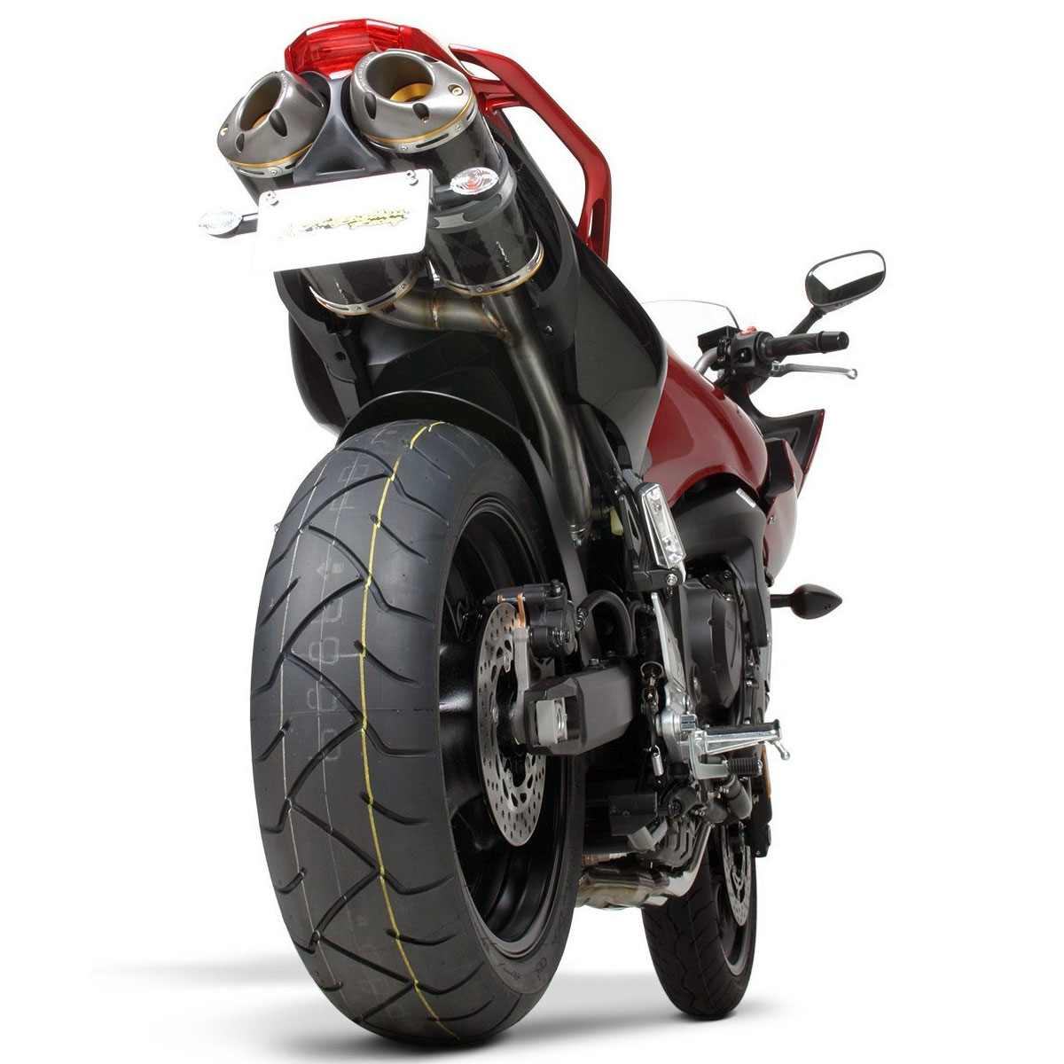two brothers m2 dual slip on exhaust for fz6 04 09