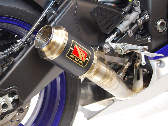 competition werkes gp slip on exhaust for yzf r6 17 19