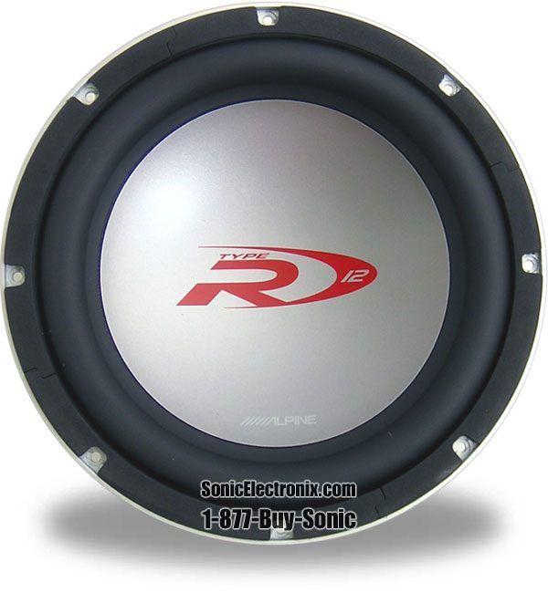 "alpine swr1221d type r dvc 2ohm 12"""