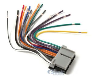 Scosche GM02RB Reverse Wire Harness to Connect an Aftermarket