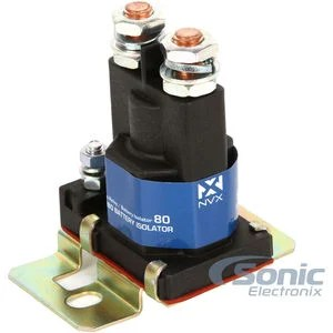 NVX BIR80 80 Amp Relay and Battery Isolator  Sonic Electronix