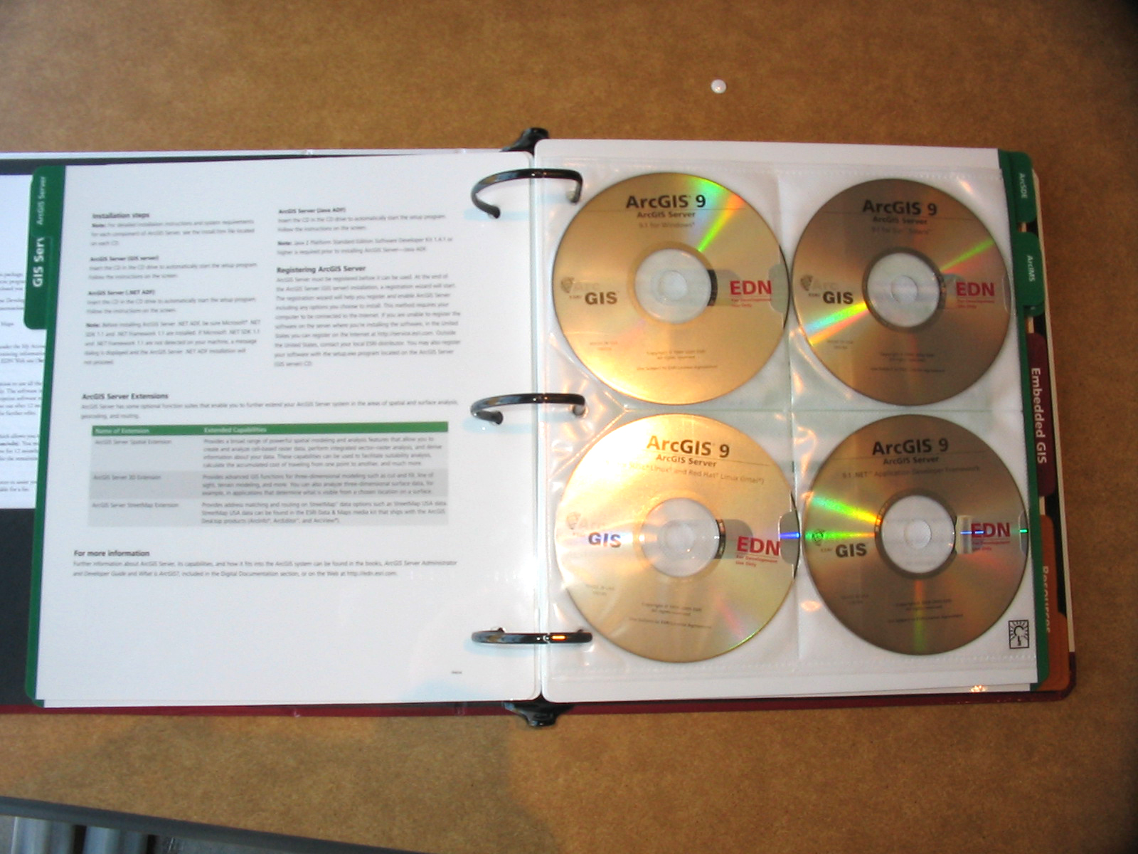 EDN GIS Servers CDs