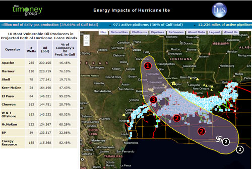 Ikes impacts on gulf coast energy
