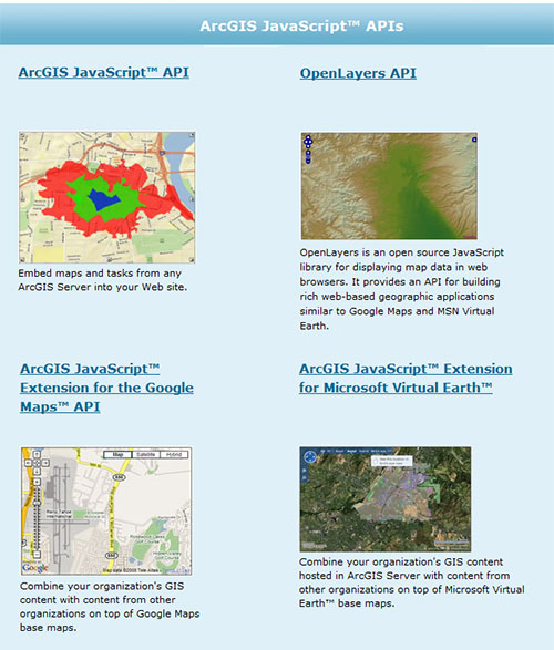 Wouldnt the ESRI JavaScript API page look better with OpenLayers?