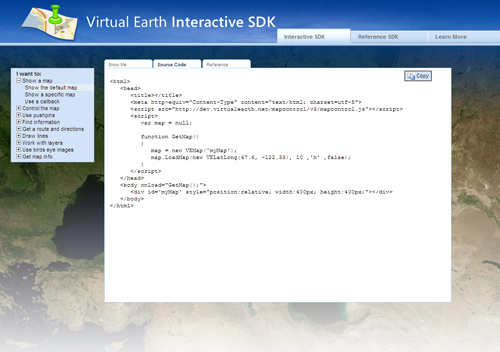 Virtual Earth Interactive SDK
