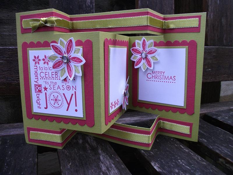 Kiwi Kiss Christmas Tri Fold Shutter Card By Kiwi Jules