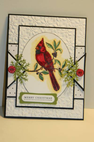 SC253 A Cardinal Christmas Card By Sn0wflakes At