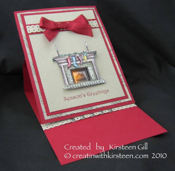 Light Up Fireside Christmas Card By Kirsteen Gill At