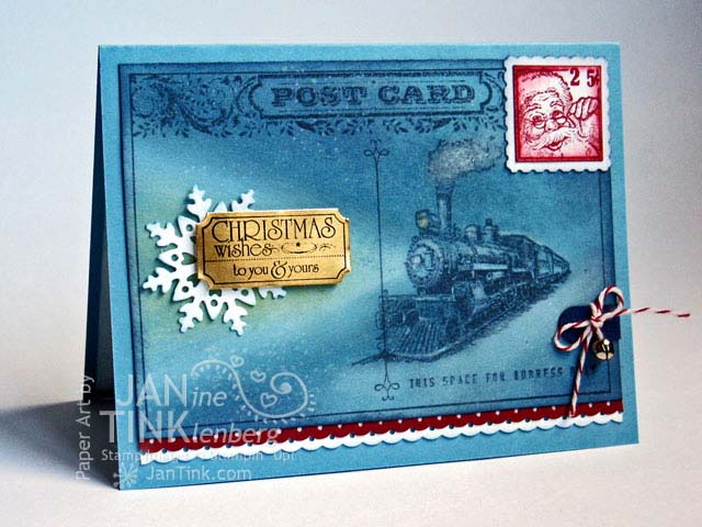 Traveler Polar Express Christmas Card By JanTInk At