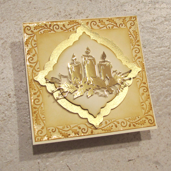Gold Christmas Card By Jitka VyZa At Splitcoaststampers